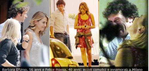 Barbara D'Urso e Felice Massa, la copia esce alla luce del sole,è amore